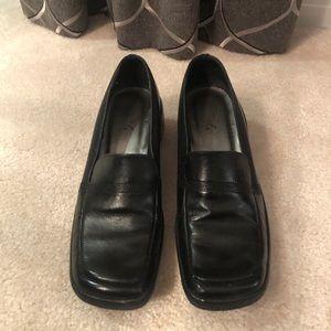 BCBG Black Wedge Loafer